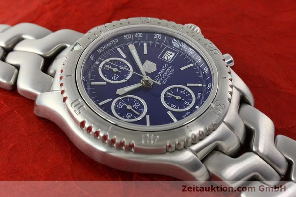 Used luxury watch Tag Heuer Link chronograph steel automatic Kal. ETA 7750 Ref. CT2111  | 141588 14