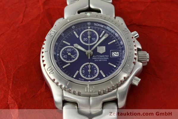 Used luxury watch Tag Heuer Link chronograph steel automatic Kal. ETA 7750 Ref. CT2111  | 141588 15