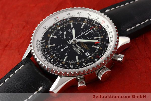 Used luxury watch Breitling Navitimer World chronograph steel automatic Kal. ETA 7754 Ref. A24322  | 141593 01