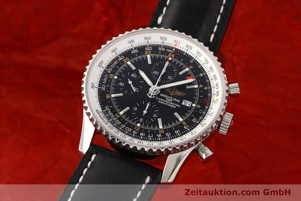 Used luxury watch Breitling Navitimer World chronograph steel automatic Kal. ETA 7754 Ref. A24322  | 141593 04
