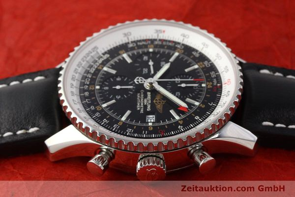 Used luxury watch Breitling Navitimer World chronograph steel automatic Kal. ETA 7754 Ref. A24322  | 141593 05