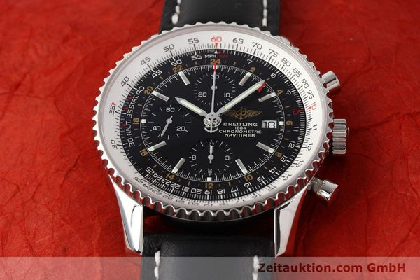 Used luxury watch Breitling Navitimer World chronograph steel automatic Kal. ETA 7754 Ref. A24322  | 141593 13