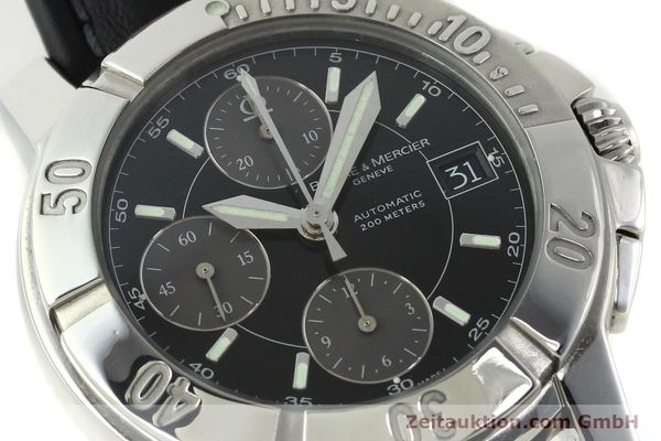 Used luxury watch Baume & Mercier Capeland chronograph steel automatic Kal. BM13750 ETA 7750 Ref. 65352  | 141594 02
