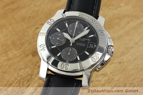 Used luxury watch Baume & Mercier Capeland chronograph steel automatic Kal. BM13750 ETA 7750 Ref. 65352  | 141594 04