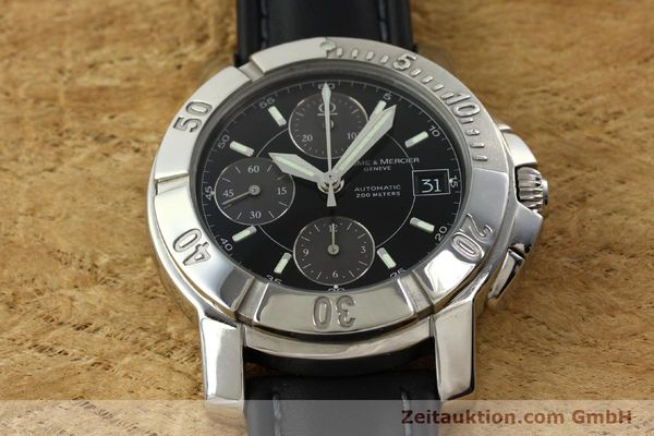 Used luxury watch Baume & Mercier Capeland chronograph steel automatic Kal. BM13750 ETA 7750 Ref. 65352  | 141594 14