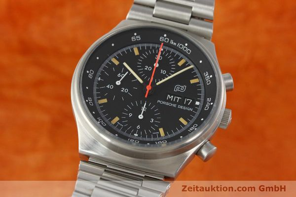 Used luxury watch Porsche Design * chronograph steel automatic Kal. VAL 7750  | 141596 04