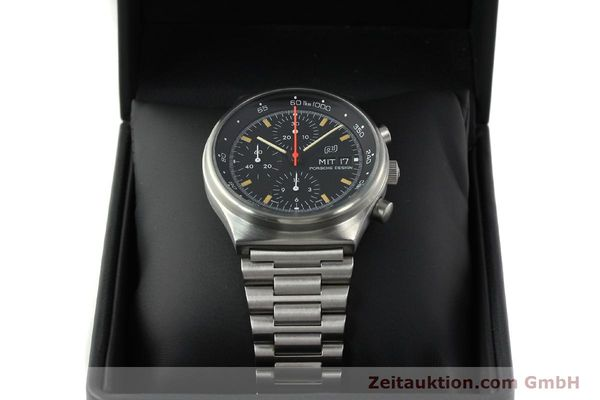 Used luxury watch Porsche Design * chronograph steel automatic Kal. VAL 7750  | 141596 07