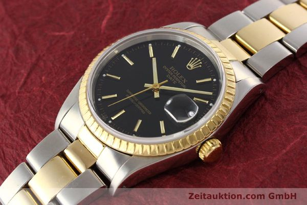 Used luxury watch Rolex Date steel / gold automatic Kal. 3135 Ref. 15223  | 141598 01
