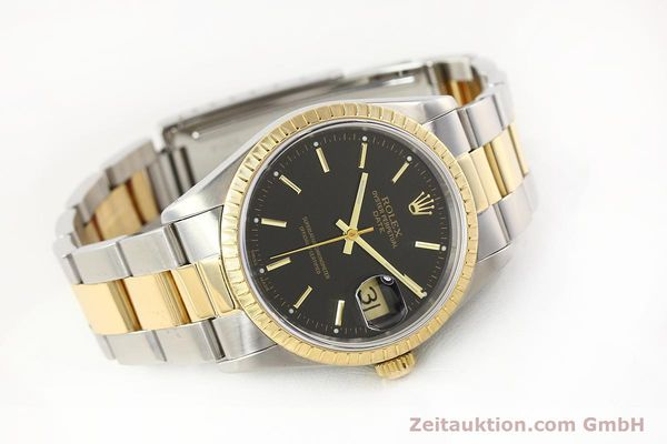 Used luxury watch Rolex Date steel / gold automatic Kal. 3135 Ref. 15223  | 141598 03