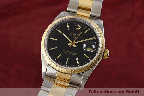Used luxury watch Rolex Date steel / gold automatic Kal. 3135 Ref. 15223  | 141598 04