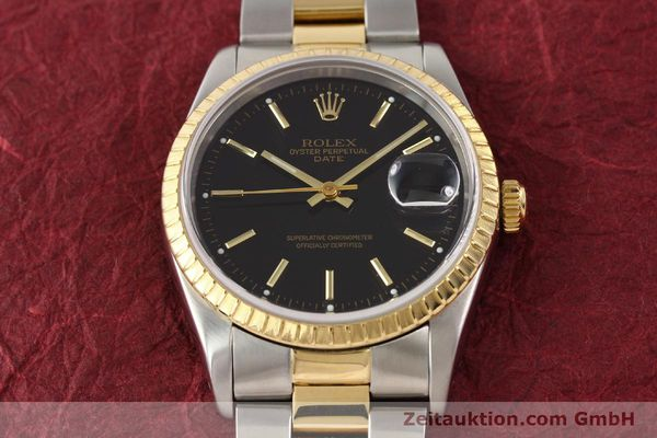 Used luxury watch Rolex Date steel / gold automatic Kal. 3135 Ref. 15223  | 141598 15