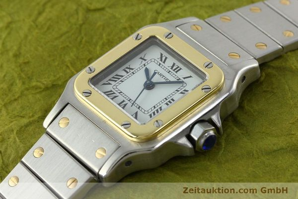 Used luxury watch Cartier Santos steel / gold automatic Kal. ETA 2670  | 141604 01