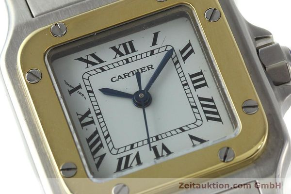 Used luxury watch Cartier Santos steel / gold automatic Kal. ETA 2670  | 141604 02