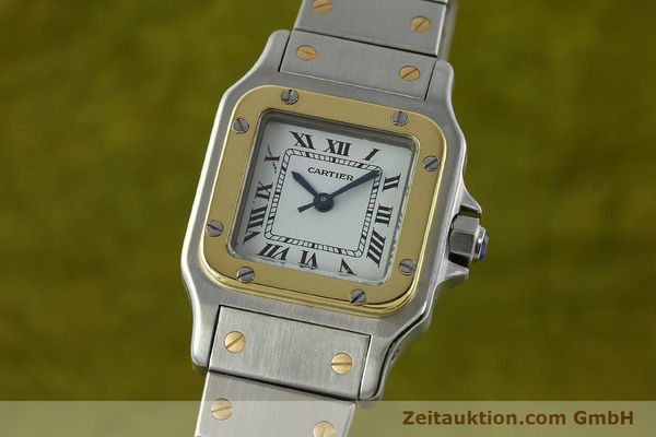 Used luxury watch Cartier Santos steel / gold automatic Kal. ETA 2670  | 141604 04