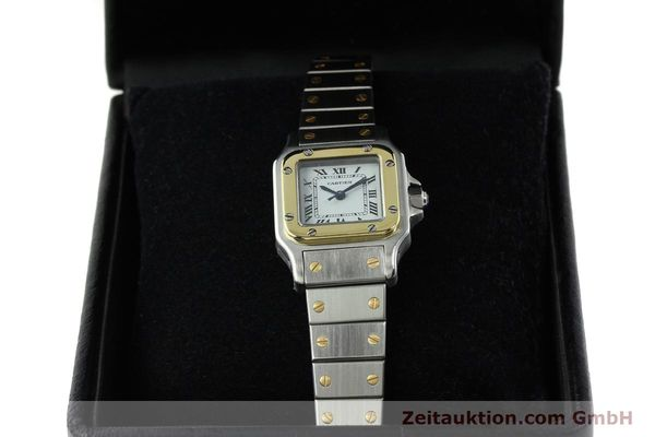 Used luxury watch Cartier Santos steel / gold automatic Kal. ETA 2670  | 141604 07