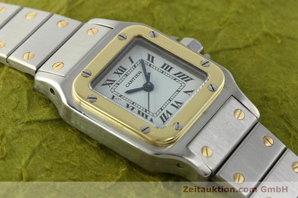 Used luxury watch Cartier Santos steel / gold automatic Kal. ETA 2670  | 141604 13