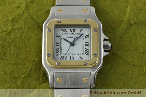 Used luxury watch Cartier Santos steel / gold automatic Kal. ETA 2670  | 141604 14