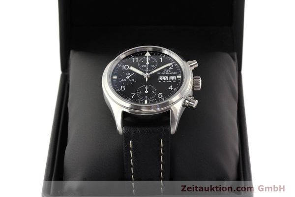 Used luxury watch IWC Fliegerchronograph chronograph steel automatic Kal. C.7912 Ref. 3706  | 141608 07