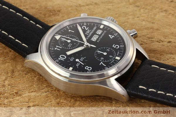Used luxury watch IWC Fliegerchronograph chronograph steel automatic Kal. C.7912 Ref. 3706  | 141608 15