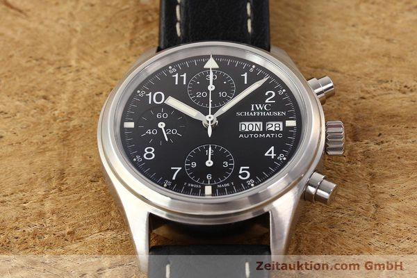 Used luxury watch IWC Fliegerchronograph chronograph steel automatic Kal. C.7912 Ref. 3706  | 141608 16