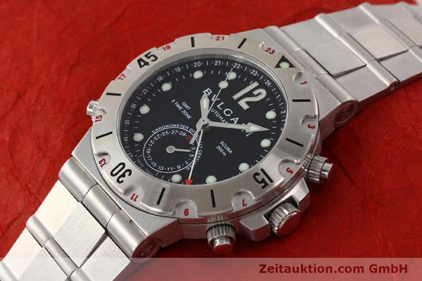 Used luxury watch Bvlgari Scuba chronograph steel automatic Kal. TEEM 312 Ref. SD38SGMT  | 141609 01