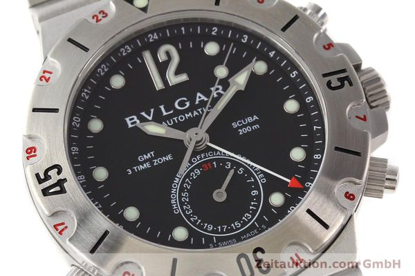Used luxury watch Bvlgari Scuba chronograph steel automatic Kal. TEEM 312 Ref. SD38SGMT  | 141609 02