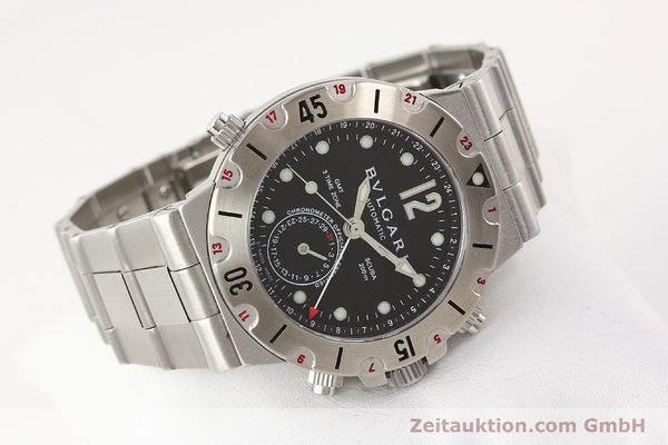 Used luxury watch Bvlgari Scuba chronograph steel automatic Kal. TEEM 312 Ref. SD38SGMT  | 141609 03