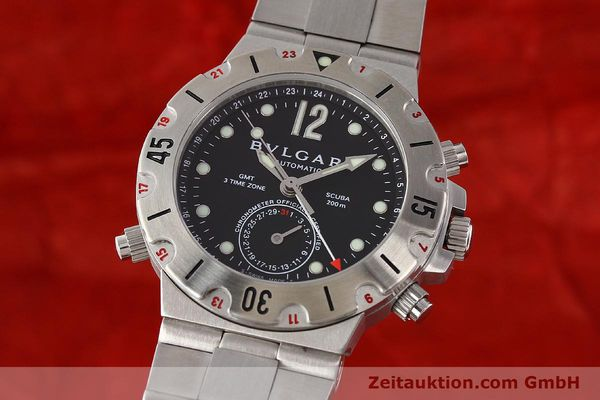Used luxury watch Bvlgari Scuba chronograph steel automatic Kal. TEEM 312 Ref. SD38SGMT  | 141609 04