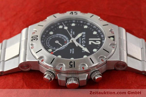 Used luxury watch Bvlgari Scuba chronograph steel automatic Kal. TEEM 312 Ref. SD38SGMT  | 141609 05