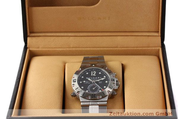 Used luxury watch Bvlgari Scuba chronograph steel automatic Kal. TEEM 312 Ref. SD38SGMT  | 141609 07