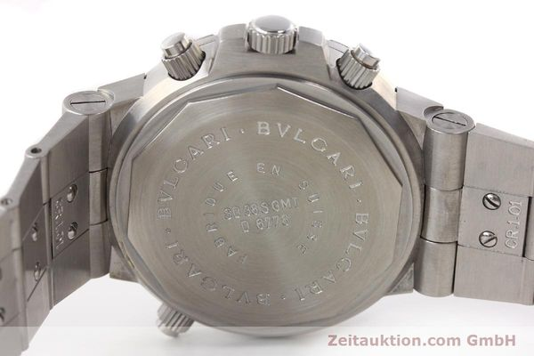 Used luxury watch Bvlgari Scuba chronograph steel automatic Kal. TEEM 312 Ref. SD38SGMT  | 141609 09