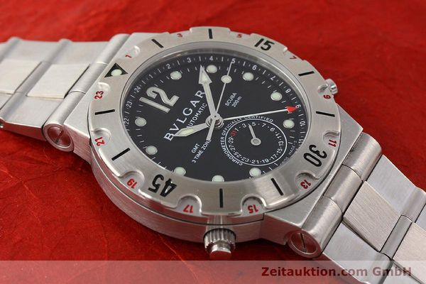 Used luxury watch Bvlgari Scuba chronograph steel automatic Kal. TEEM 312 Ref. SD38SGMT  | 141609 15