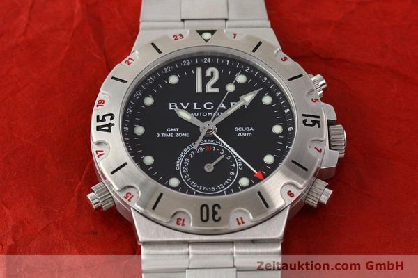 Used luxury watch Bvlgari Scuba chronograph steel automatic Kal. TEEM 312 Ref. SD38SGMT  | 141609 16