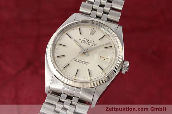 montre de luxe d occasion Rolex Datejust acier / or  automatique Kal. 1570 Ref. 1601  | 141615 04