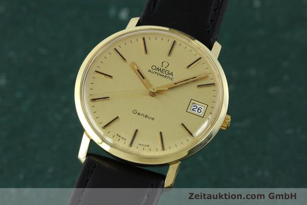 montre de luxe d occasion Omega * or jaunen 14 ct automatique Kal. 1012 Ref. 1627C38  | 141620 04