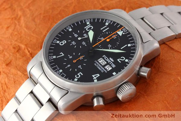 Used luxury watch Fortis Flieger steel automatic Kal. ETA 7750 Ref. 597.10.141  | 141625 01