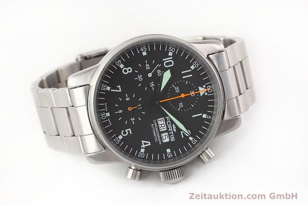 Used luxury watch Fortis Flieger steel automatic Kal. ETA 7750 Ref. 597.10.141  | 141625 03