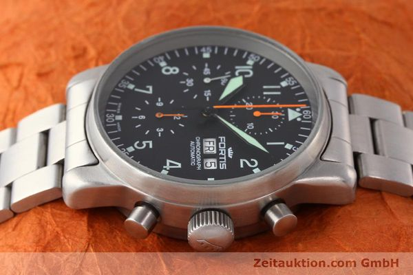 Used luxury watch Fortis Flieger steel automatic Kal. ETA 7750 Ref. 597.10.141  | 141625 05
