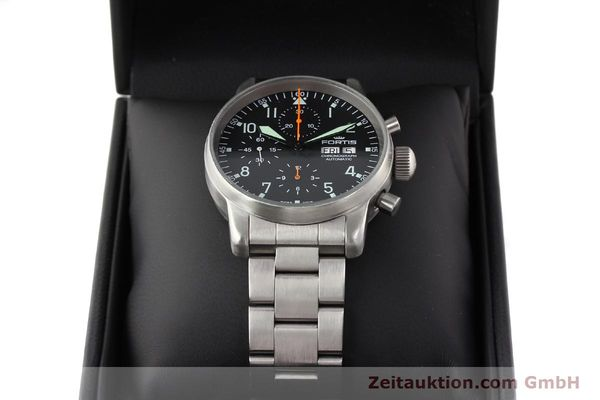Used luxury watch Fortis Flieger steel automatic Kal. ETA 7750 Ref. 597.10.141  | 141625 07