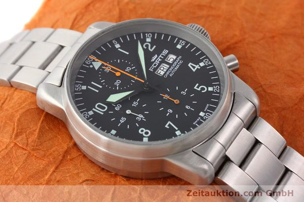 Used luxury watch Fortis Flieger steel automatic Kal. ETA 7750 Ref. 597.10.141  | 141625 14