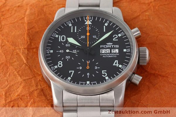 Used luxury watch Fortis Flieger steel automatic Kal. ETA 7750 Ref. 597.10.141  | 141625 15