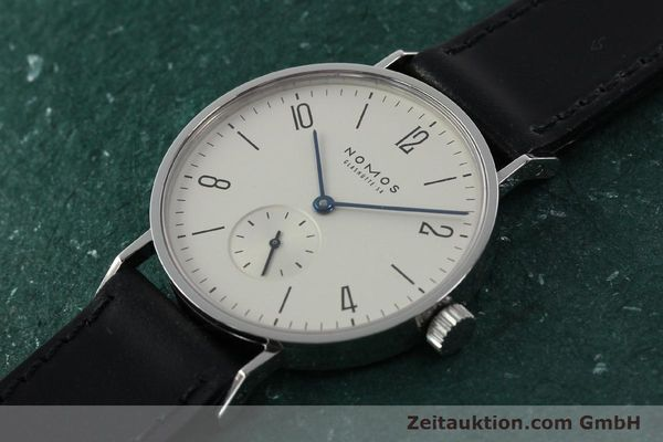 Used luxury watch Nomos Tangente steel manual winding Kal. ETA 7001  | 141627 01