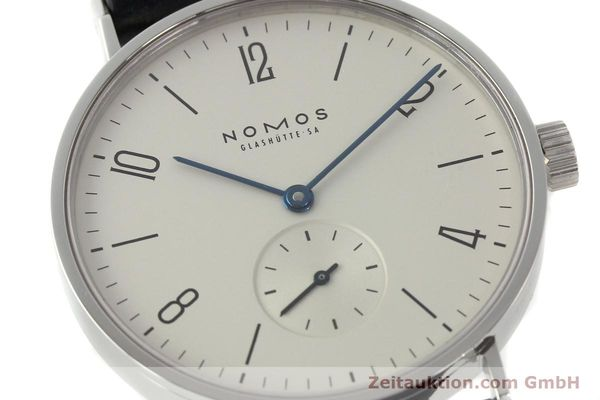 Used luxury watch Nomos Tangente steel manual winding Kal. ETA 7001  | 141627 02