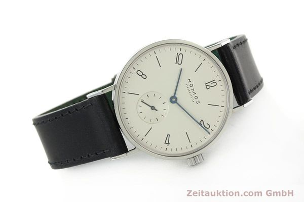 Used luxury watch Nomos Tangente steel manual winding Kal. ETA 7001  | 141627 03