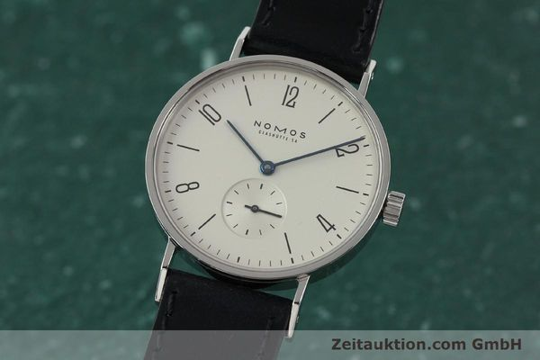 Used luxury watch Nomos Tangente steel manual winding Kal. ETA 7001  | 141627 04