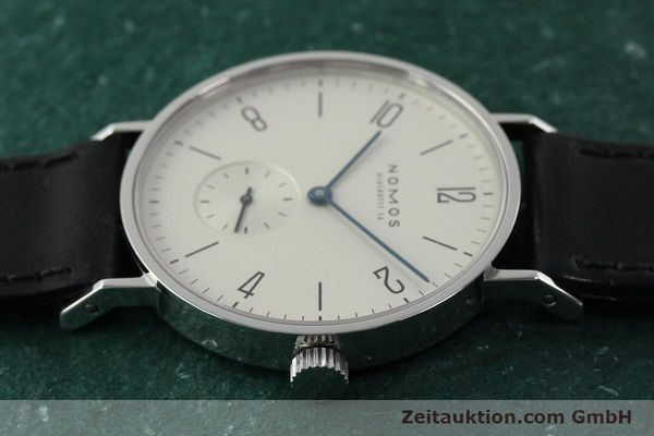 Used luxury watch Nomos Tangente steel manual winding Kal. ETA 7001  | 141627 05