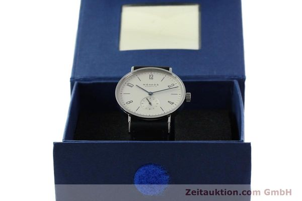 Used luxury watch Nomos Tangente steel manual winding Kal. ETA 7001  | 141627 07