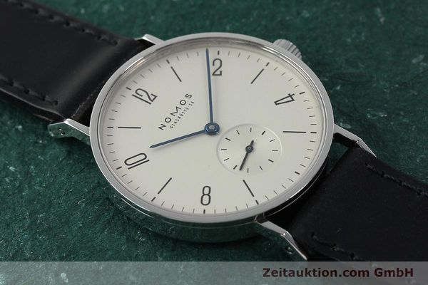 Used luxury watch Nomos Tangente steel manual winding Kal. ETA 7001  | 141627 14