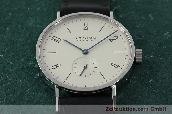 Used luxury watch Nomos Tangente steel manual winding Kal. ETA 7001  | 141627 15