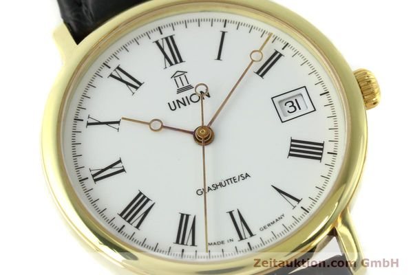 Used luxury watch Union Glashütte * gilt steel automatic Kal. ETA 2824-2  | 141629 02